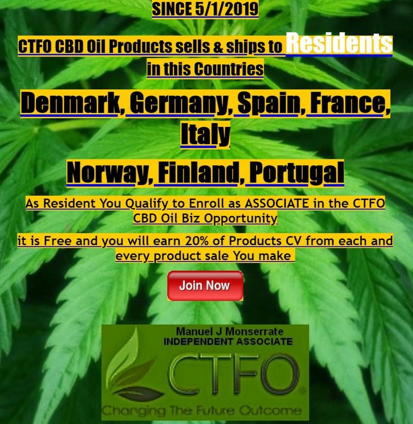 New Countries virgin CTFO CBD Oil Markets